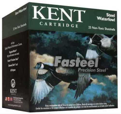 "Kent Cartridges Kent Fasteel Waterfowl 12 Gauge 3"" 7/8oz #4 Steel Per 25 Shotshells K203ST2444 K203ST24-4"