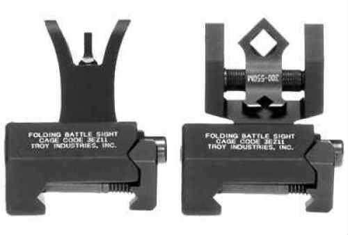 Troy Industries BattleSight Micro-HK Sight Set Folding Black SSIG-IAR-SMBT-00