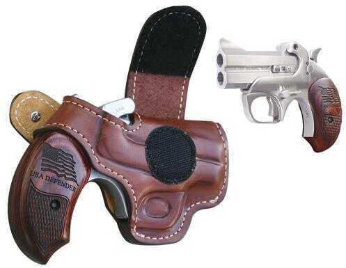 """Bond Arms USA Defender 45 Colt/410 Gauge 3"""" Barrel 2 Round Stainless Steel  Rosewood  Derringer Pistol USADEFENDER"""