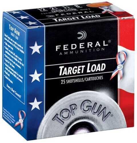 """Federal Cartridge Target Load Top Gun ShotShells 12 Gauge 2.75"""" 1.1 oz 8 Shot 25Bx/10Cs Case Price 250 Rounds TGL12US8"""