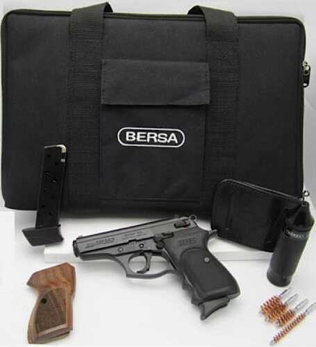 """Bersa Thunder Kit 380 ACP 3.5"""" Barrel 7 Round Matte Black Semi Automatic Pistol T380WGKIT"""