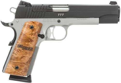 "Sig Sauer 1911 *CA Approved* 45ACP 5"" Barrel 8+1 Rounds Burled Maple Grip 2 Tone Semi Automatic Pistol 191145TTTCA"