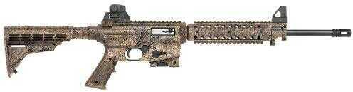 "Mossberg Tact Flat Top Rifle  22 Long Rifle  16.25"" Barrel  10+1 Round Mossy Oak Breakup  Telestyle  Fixed Stock  Matte Blue 37241"
