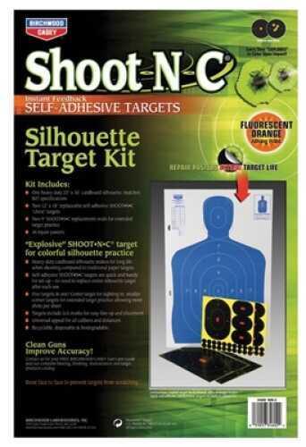 """Birchwood Casey Shoot-N-C Targets: Silhouette SOK-2 12"""" x 18"""" B27 Kit (2 Pack) 34602"""