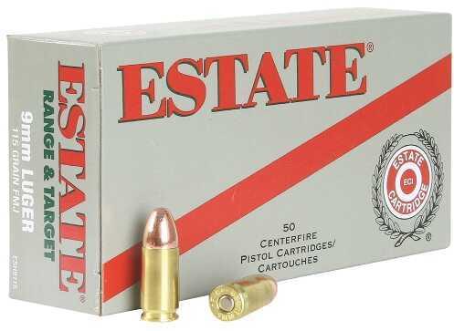Estate Cartridge Estate Range 9mm Full Metal Jacket 115GR 50Box/20Case ESH9115