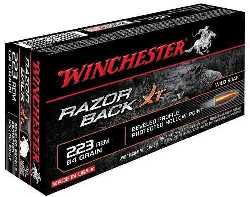 Winchester Razorback XT 223 Remington 64 Grain Hollow Point 20 Rounds S223WB