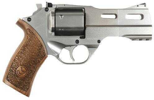 "Revolver Chiappa Rhino Hi-Point  357 Magnum 4"" Barrel 6 Round Wood Grip Nickel Finish 340075"