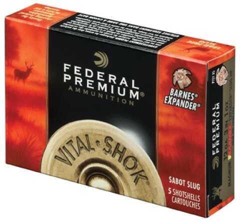 "Federal Cartridge Premium Vital Shok 20 ga 2.75"" .63 oz Sabot Slug Shot 5 Rounds P208TC"