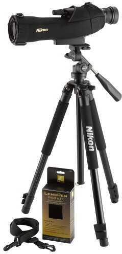 Nikon Prostaff 5 Kit 16-48x 60mm 120 ft @ 1000 yds 15.2mm @16x Black 6981