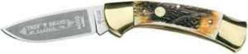 Boker USA Inc. Boker Lock Blade Folding Knife With Polished Brass Bolsters Md: 4000