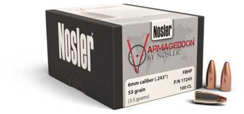 Nosler Varmageddon Bullets 6mm 55Gr FBHP/100 17245