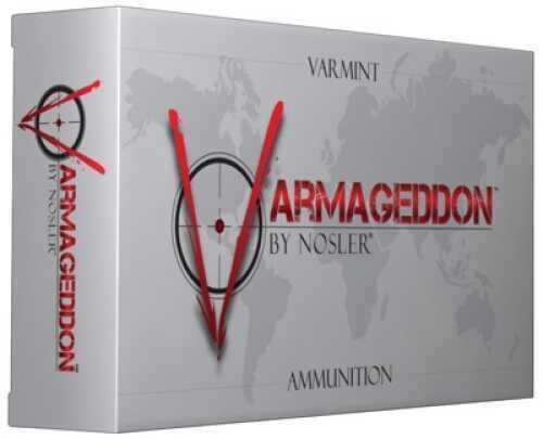 Nosler Varmageddon Ammunition 222 Rem 40gr FBTipped (Per 20) 65135