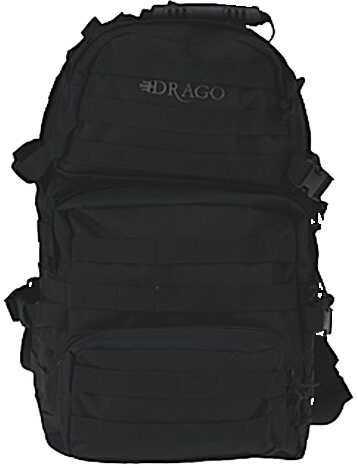 Drago Gear Assault Backpack 600 Denier Polyester Black 14302BL