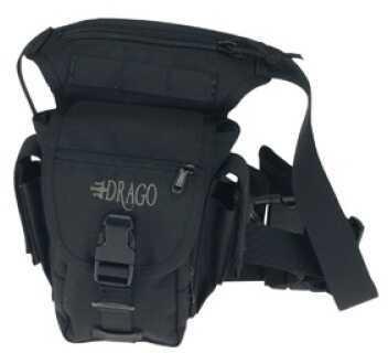 DRAGO GEAR Waist Pack 1000 Denier Cordura Black 16301BL