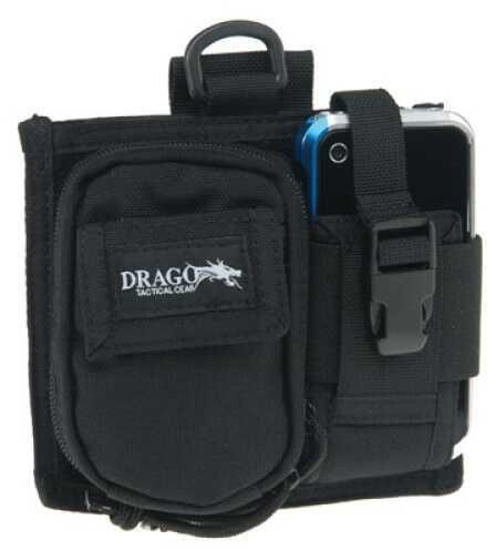 DRAGO GEAR Recon Camera Utility Phone & Case 600 Denier Polyester Black 16303BL