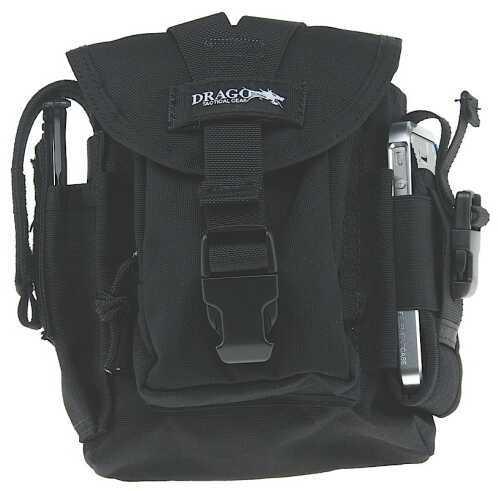 DRAGO GEAR Patrol Pack Belt Bag Reinforced Webbing Black 16302BL