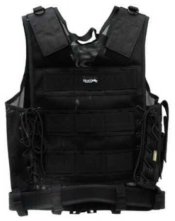 DRAGO GEAR Fast Draw Vest Tactical Black Mesh Net 51301BL