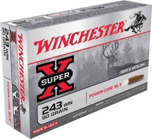 Winchester Super X 243 Winchester Power Core 95/5 64 GR 20Box/10Cs X243WLF
