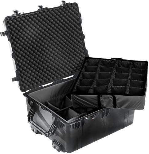 Pelican Transport Case 30x25x15 w/Wheels Watertight/Dust & Crushproof Black 1690