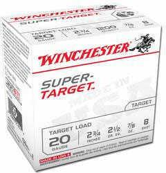 """Winchester Super Target 20 ga 2.75"""" 1.1 oz 8 Shot TD208"""