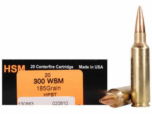 HSM / Hunting Shack Inc HSM/HUNTING SHACK INC HSM Trophy Gold 300 Winchester Short Magnum BTHP 185 GR 20Rds BER300WSM185
