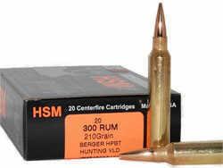 HSM / Hunting Shack Inc HSM/HUNTING SHACK INC HSM Trophy Gold 300 Remington Ultra Magnum BTHP 185 GR 20Rds BER300RUM185