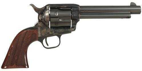 "Taylor's & Company Cattleman Gambler 357 Magnum 5.5"" Barrel 6 Round Walnut Grip Blued Revolver 555129"