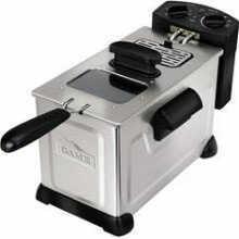 FoodSaver / Jarden FoodSaver/Jarden Comsumer Game Fryer 3.7 Liter Immerson Silver CKSTGMDFZM37
