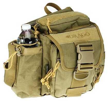 DRAGO GEAR Hiker Shoulder Pack 1000 D Codura Tan 15301TN