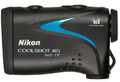 Nikon COOLSHOT 40i Golf Laser Rangefinder 6x21 650 Yard Range Angle Compensation CR2 Lithium Battery