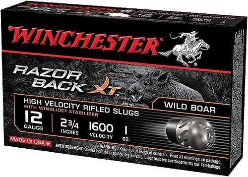 Winchester RAZORBACK XT 12GA 23/4 SLUG 5BX S12RBSS