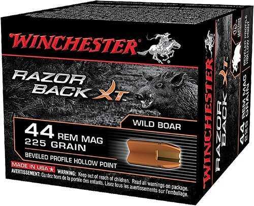 Winchester RazorBack 44 Remington Magnum Hollow Point 225 GR (Per 20) S44MWB