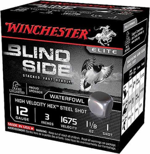 """Winchester Blindside Waterfowl 12ga 3.5"""" 1-3/8 Oz Number 1 Shot 250 rounds SBS12LHV1"""