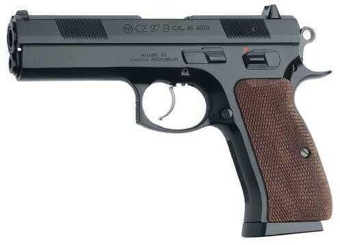 "CZ USA CZ 97 B 45 ACP 4.8"" Barrel 10 Round Aluminum Grips Black Semi Automatic Pistol 01411"