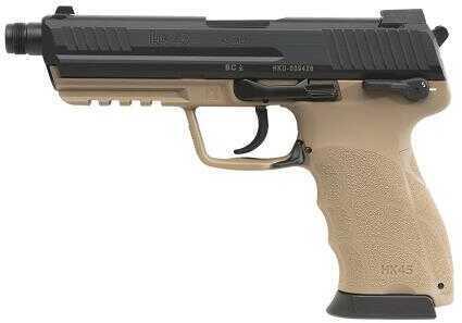 "Heckler & Koch HK45 45 ACP Tactical 4.53"" Barrel 10 Round V7 LEM Double Action Only Tan Semi Automatic Pistol 745007TT-A5"