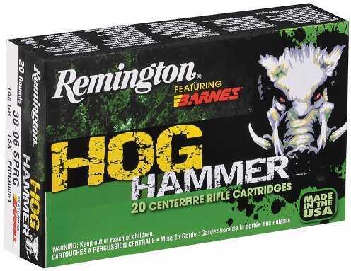 Remington Hog Hammer 30-06 168Gr 20 Box