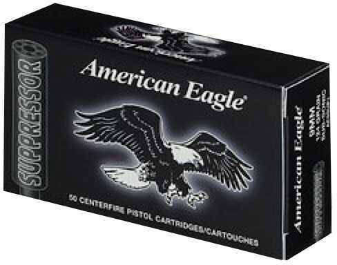Federal Cartridge Federal American Eagle Suppressor 9mm Luger 124GR FMJ 50Box/10Case AE9SUP1
