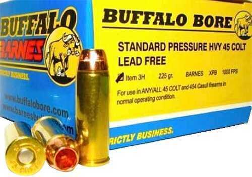 Buffalo Bore Ammunition Buffalo Barnes Heavy 45 Colt 225 Gr Barnes XPB (Per 20) 3H/20