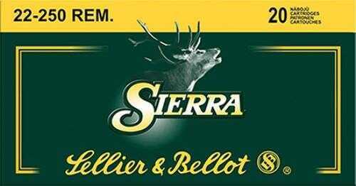 Sellier & Bellot Rifle 22-250 55Gr SbT 20 500 Sb22250A