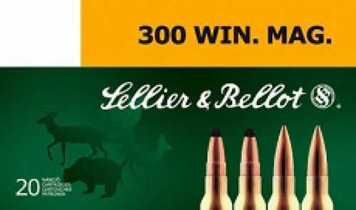 Sellier & Bellot 300 Mag 180 Grain SPCE 20 rds Md: SB300B