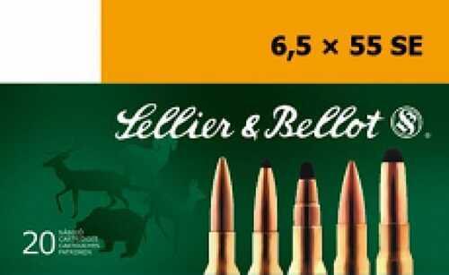 Sellier & Bellot Full Metal Jacket 6.5mmX55mm 140GR 20 Rounds Ammunition SB6555C