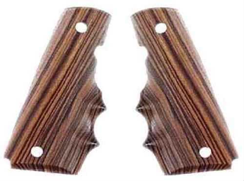 Hogue Colt & 1911 Government Grips Kingwood w/Finger Grooves 45600