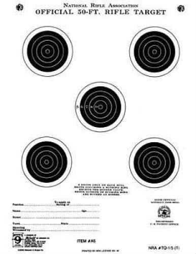 """Hoppes 50 Feet 7""""x9"""" Bullseye Targets 20 Pack Md: A5T"""