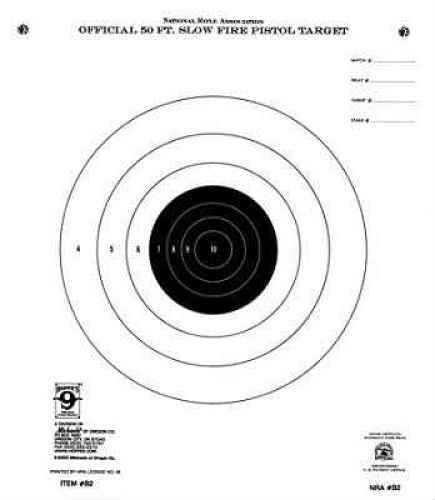 Hoppes Pistol Target 50ft Slow Fire B2 (20 pack) B2