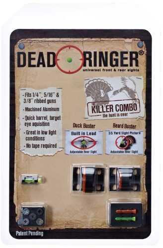 Dead Ringer Killer Combo Beard/Duck Buster Lexan Orange/Green Set Black DR4331
