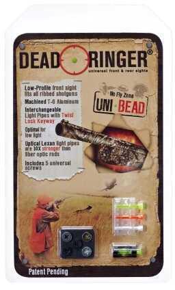 Dead Ringer Uni-Bead Front Sight Interchangable Lexan Green/Orange/White DR4386