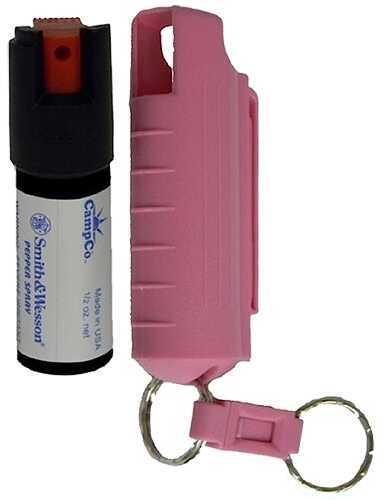 Smith & Wesson SW Pepper Spray/CampCo 1403 Pepper Spray 15% Plastic Keychain Case .5 Oz Black
