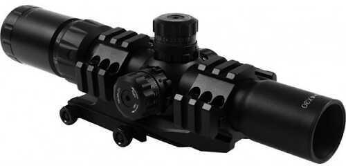 Aim Sports Inc. AIM Sports Scope CQB 1.5-4x 30mm Illuminated 3/4 Circle Lock Turrets JTHR1