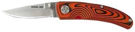 """Knives of Alaska KOA Friction-Lock Folder D2 Steel 2.55"""" Spear-Point Micarta Orng/Blk 00412FG"""