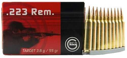 Ruag Ammotec GECO 223 Rem/5.56 NATO Full Metal Jacket 55 GR 50 Rd Per Box Ammunition 356141000